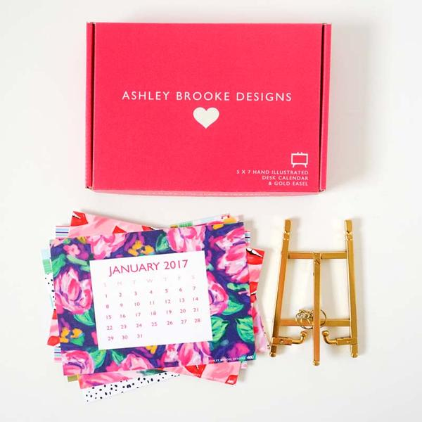 Ashley Brooke Designs Desk Calendar Giveaway via smelltheroses.com