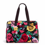 Carry-on Essentials via smelltheroses.com (Triple Compartment Bag Vera Bradley)