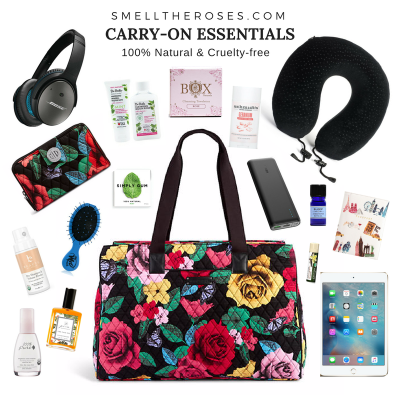 carry-on essentials from smelltheroses.com