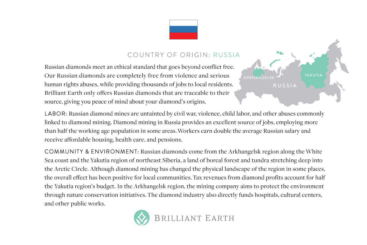 Russia Origin Card - Brilliant Earth | smelltheroses.com