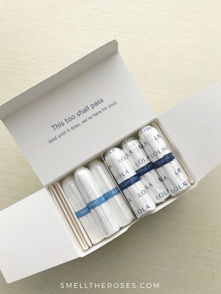 LOLA 100% Organic Tampons | smelltheroses.com