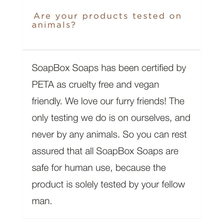 Soapbox Soaps + PETA | smelltheroses.com