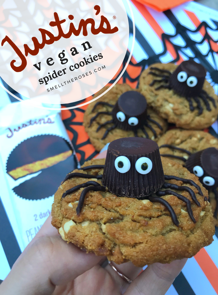 Vegan Peanut Butter Spider Cookie | smelltheroses.com