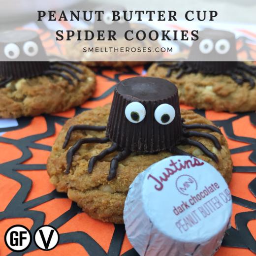Vegan Peanut Butter Spider Cookies | smelltheroses.com