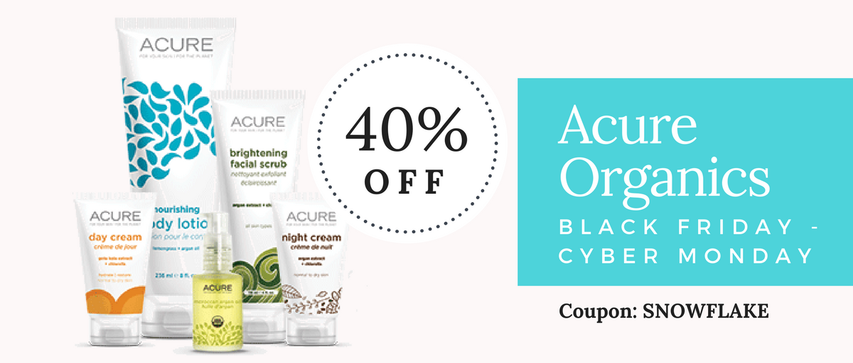 Acure Organics Black Friday & Cyber Monday